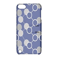 Round Blue Apple Ipod Touch 5 Hardshell Case With Stand by Jojostore