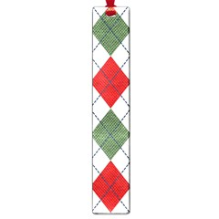 Red Green White Argyle Navy Large Book Marks by Jojostore