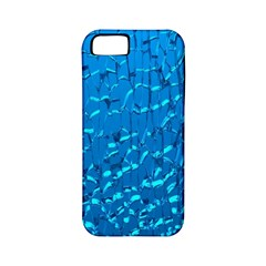 Shattered Blue Glass Apple Iphone 5 Classic Hardshell Case (pc+silicone) by Jojostore