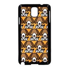 Sitbeagle Dog Orange Samsung Galaxy Note 3 Neo Hardshell Case (Black) by Jojostore