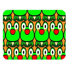 Sitfrog Orange Face Green Frog Copy Double Sided Flano Blanket (large)  by Jojostore