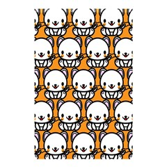 Sitwhite Cat Orange Shower Curtain 48  X 72  (small)  by Jojostore