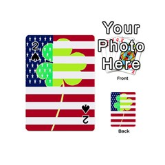 Usa Ireland American Flag Shamrock Irish Funny St Patrick Country Flag  Playing Cards 54 (mini)  by yoursparklingshop