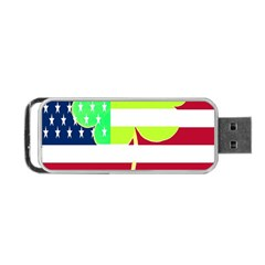 Usa Ireland American Flag Shamrock Irish Funny St Patrick Country Flag  Portable Usb Flash (two Sides) by yoursparklingshop