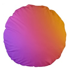 Blank Desk Pink Yellow Purple Large 18  Premium Flano Round Cushions by Jojostore