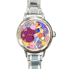 Canddy Color Round Italian Charm Watch by Jojostore