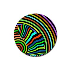 Colorful Cat Magnet 3  (round) by Jojostore