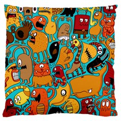 Creature Cluster Large Flano Cushion Case (one Side) by Jojostore