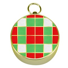 Christmas Fabric Textile Red Green Gold Compasses by Jojostore
