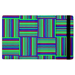 Fabric Pattern Design Cloth Stripe Apple Ipad 2 Flip Case by Jojostore