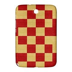 Fabric Geometric Red Gold Block Samsung Galaxy Note 8 0 N5100 Hardshell Case  by Jojostore