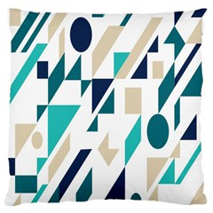 Geometric Large Flano Cushion Case (one Side) by Jojostore