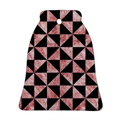 Triangle1 Black Marble & Red & White Marble Ornament (bell) by trendistuff