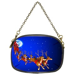 Holidays Christmas Deer Santa Claus Horns Chain Purses (One Side)  by Jojostore