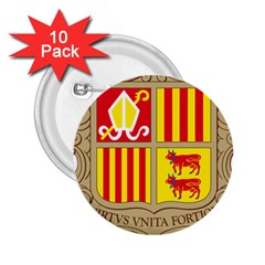 Coat Of Arms Of Andorra 2 25  Buttons (10 Pack)  by abbeyz71