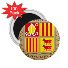 Coat Of Arms Of Andorra 2 25  Magnets (100 Pack)  by abbeyz71