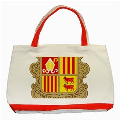 Coat Of Arms Of Andorra Classic Tote Bag (red) by abbeyz71