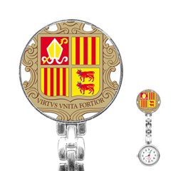 Coat Of Arms Of Andorra Stainless Steel Nurses Watch by abbeyz71