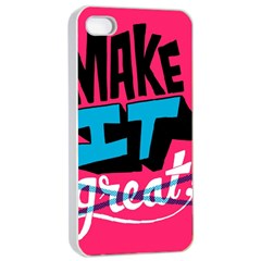 Make It Apple Iphone 4/4s Seamless Case (white) by Jojostore
