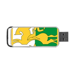 Coat Of Arms Of Abkhazia Portable Usb Flash (one Side) by abbeyz71