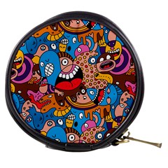 People Face Fun Cartoons Mini Makeup Bags by Jojostore