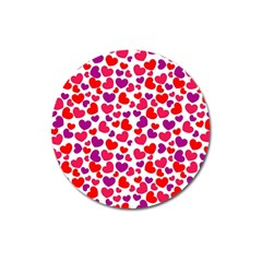 Love Pattern Wallpaper Magnet 3  (round) by Jojostore