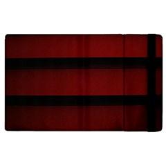 Line Red Black Apple Ipad 3/4 Flip Case by Jojostore