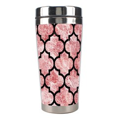 Tile1 Black Marble & Red & White Marble (r) Stainless Steel Travel Tumbler by trendistuff