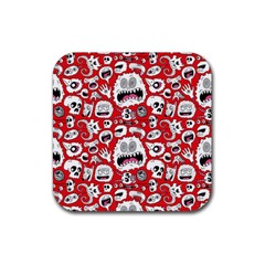 Another Monster Pattern Rubber Coaster (square)  by Jojostore