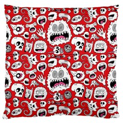 Another Monster Pattern Standard Flano Cushion Case (one Side) by Jojostore