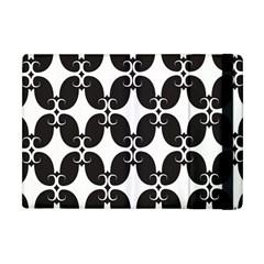 Black Flower Accents Apple Ipad Mini Flip Case by Jojostore