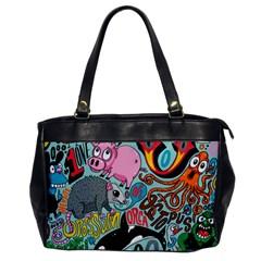 Alphabet Patterns Office Handbags by Jojostore