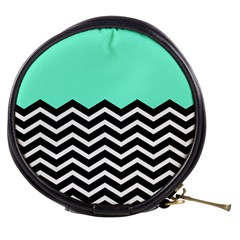 Blue Chevron Mini Makeup Bags by Jojostore