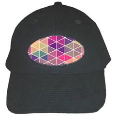 Chevron Colorful Black Cap by Jojostore