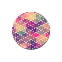 Chevron Colorful Magnet 3  (round) by Jojostore