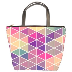 Chevron Colorful Bucket Bags by Jojostore