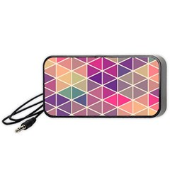 Chevron Colorful Portable Speaker (Black)  by Jojostore