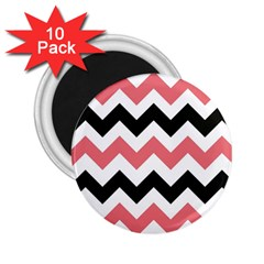 Chevron Crazy On Pinterest Blue Color 2 25  Magnets (10 Pack)  by Jojostore