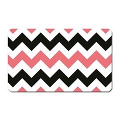Chevron Crazy On Pinterest Blue Color Magnet (rectangular) by Jojostore