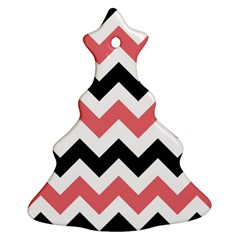 Chevron Crazy On Pinterest Blue Color Christmas Tree Ornament (2 Sides) by Jojostore