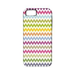 Color Full Chevron Apple Iphone 5 Classic Hardshell Case (pc+silicone) by Jojostore