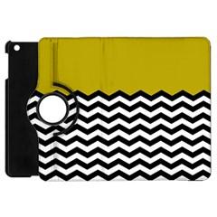 Colorblock Chevron Pattern Mustard Apple Ipad Mini Flip 360 Case by Jojostore