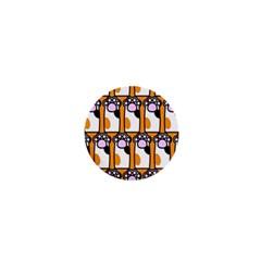 Cute Cat Hand Orange 1  Mini Buttons by Jojostore