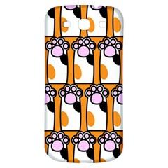 Cute Cat Hand Orange Samsung Galaxy S3 S Iii Classic Hardshell Back Case by Jojostore