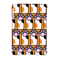 Cute Cat Hand Orange Apple Ipad Mini Hardshell Case (compatible With Smart Cover) by Jojostore