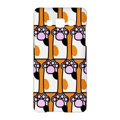 Cute Cat Hand Orange Samsung Galaxy A5 Hardshell Case  by Jojostore