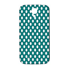 Circular Pattern Blue White Samsung Galaxy S4 I9500/i9505  Hardshell Back Case by Jojostore