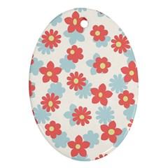Flower Pink Ornament (Oval)  by Jojostore