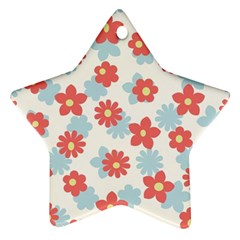Flower Pink Ornament (star)  by Jojostore