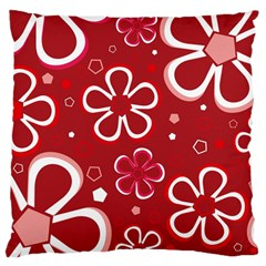 Flower Red Cute Large Cushion Case (two Sides) by Jojostore